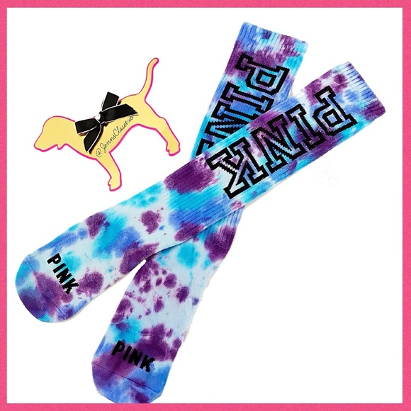 efa9e4546 •Victoria s Secret PINK• Tie dye Knee high socks